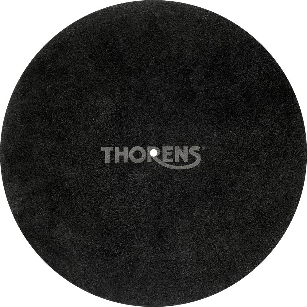 Thorens Platter mat leather Platter mat leather Black